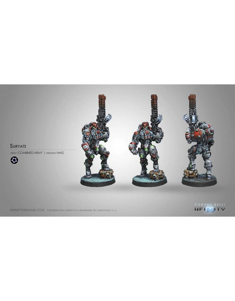 Corvus Belli Combined Army Suryats (HMG) Blister Pack