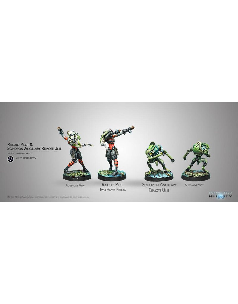 Corvus Belli Combined Army Raicho Pilot & Scindron Ancillary Remote Unit Box set