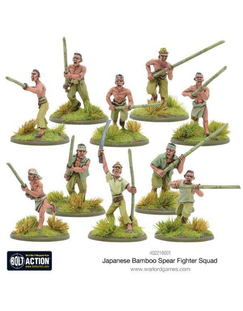 Warlord Games Imperial Japanese Bamboo Spear Fighter squad