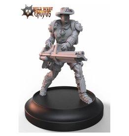 Warcradle Studios Lawmen Deputy with Gatling Gun (Light Support)