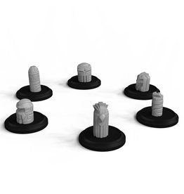 Warcradle Studios Small Spirit Totem Set (6 Models) (Hired Hand)