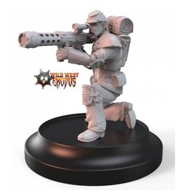 Warcradle Studios Union Line Troop with Rocket Pod (Light Support)