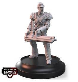 Warcradle Studios Union Line Troop with Gatling Gun (Light Support)