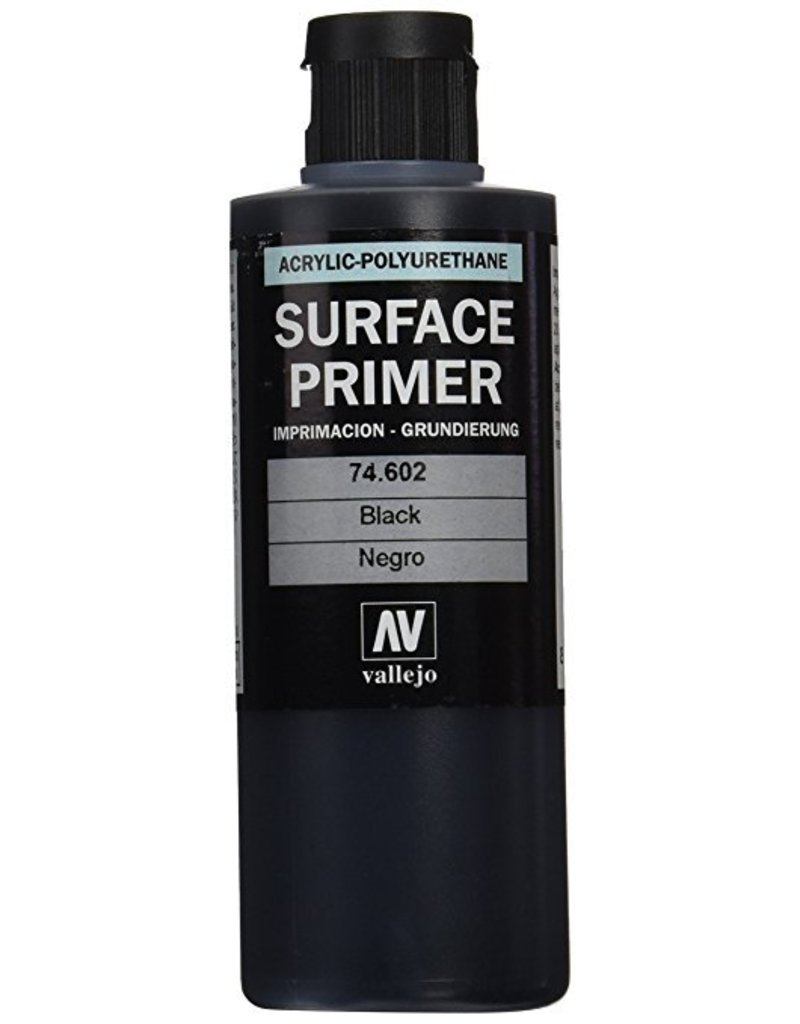Vallejo Polyurethane Primer - Black 200ml