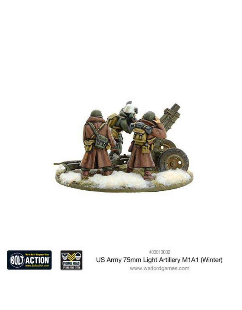 Warlord Games US Army 75mm Light Artillery M1A1 (Winter)
