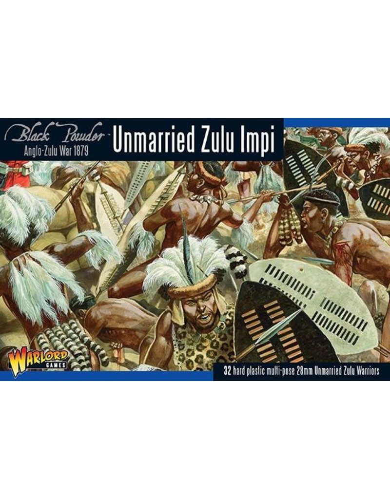 Warlord Games Anglo-Zulu war 1879 Unmarried Zulu Impi Box Set
