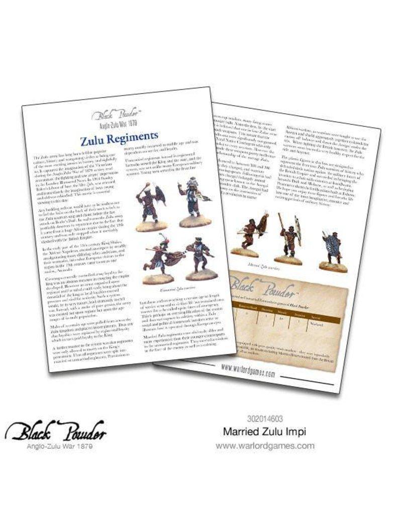 Warlord Games Anglo-Zulu war 1879 Married Zulu Impi Box Set