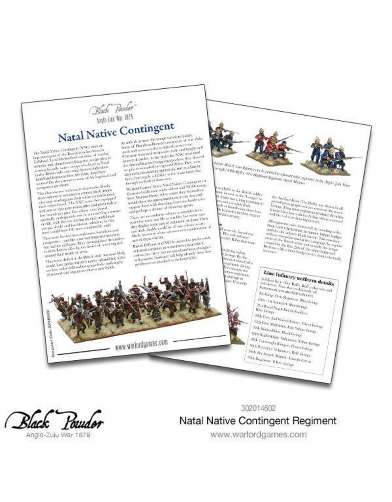 Warlord Games Anglo-Zulu war 1879 Natal Native Contingent Regiment Box Set