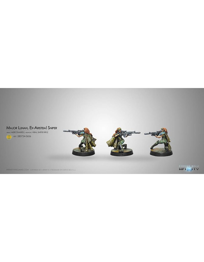 Corvus Belli Mercenaries Major Lunah, Ex-Aristeia! Sniper (Viral Sniper Rifle) Blister Pack