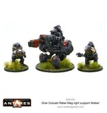 Warlord Games Ghar Rebel Outcast Mag-light support Walker Team