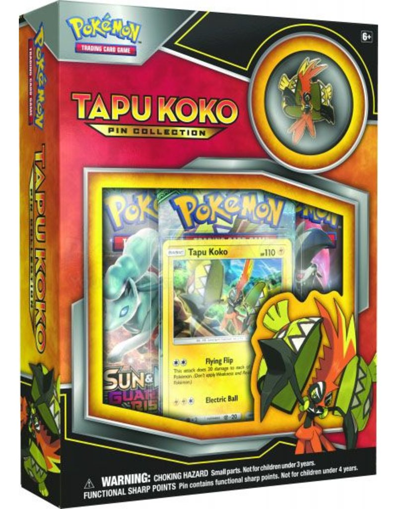 Pokemon Tapu Koko Pin Collection: Pokemon TCG