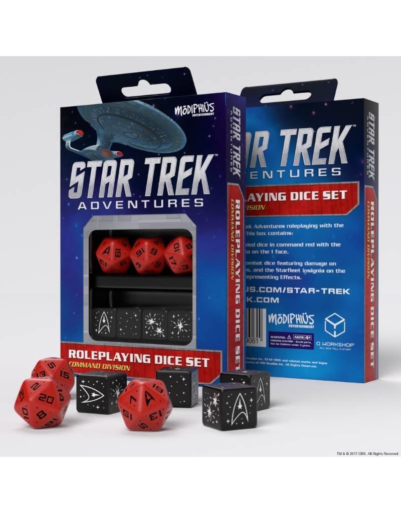 Modiphius Entertainment Star Trek Adventures Accessories: Command Red Custom Dice