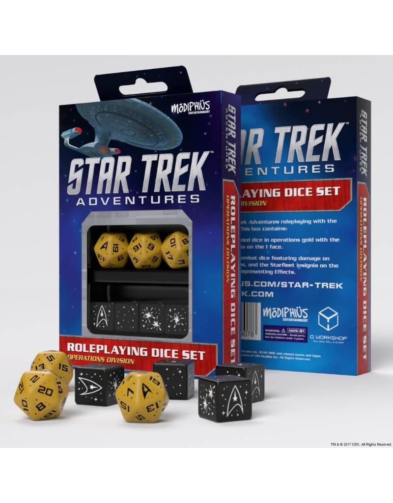 Modiphius Entertainment Star Trek Adventures Accessories: Operations Gold Custom Dice
