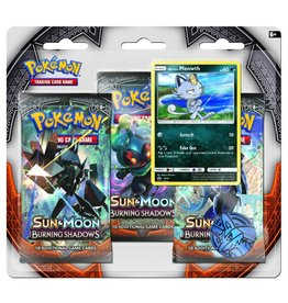Pokemon Sun & Moon Burning Shadows Triple Pack Booster (Meoth)