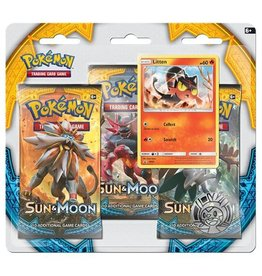 Pokemon Sun & Moon Triple Pack Booster (Litten): Pokemon TCG
