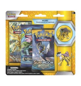 Pokemon Legendary Beasts Collector's Pin Triple Pack (Raikou): Pokemon TCG