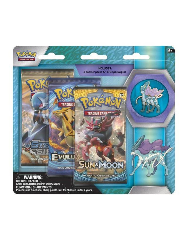 Pokemon Legendary Beasts Collector's Pin Triple Pack (Suicune): Pokemon TCG