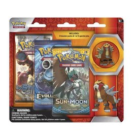 Pokemon Legendary Beasts Collector's Pin Triple Pack (Entei): Pokemon TCG