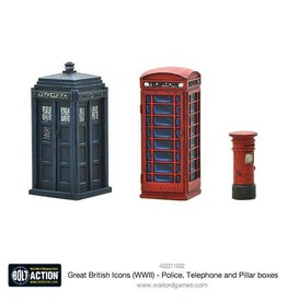 Warlord Games Great British Icons Police, Telephone and Pillar boxes (Splash Release)