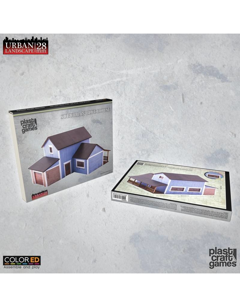 Plast-Craft Suburban Blue House