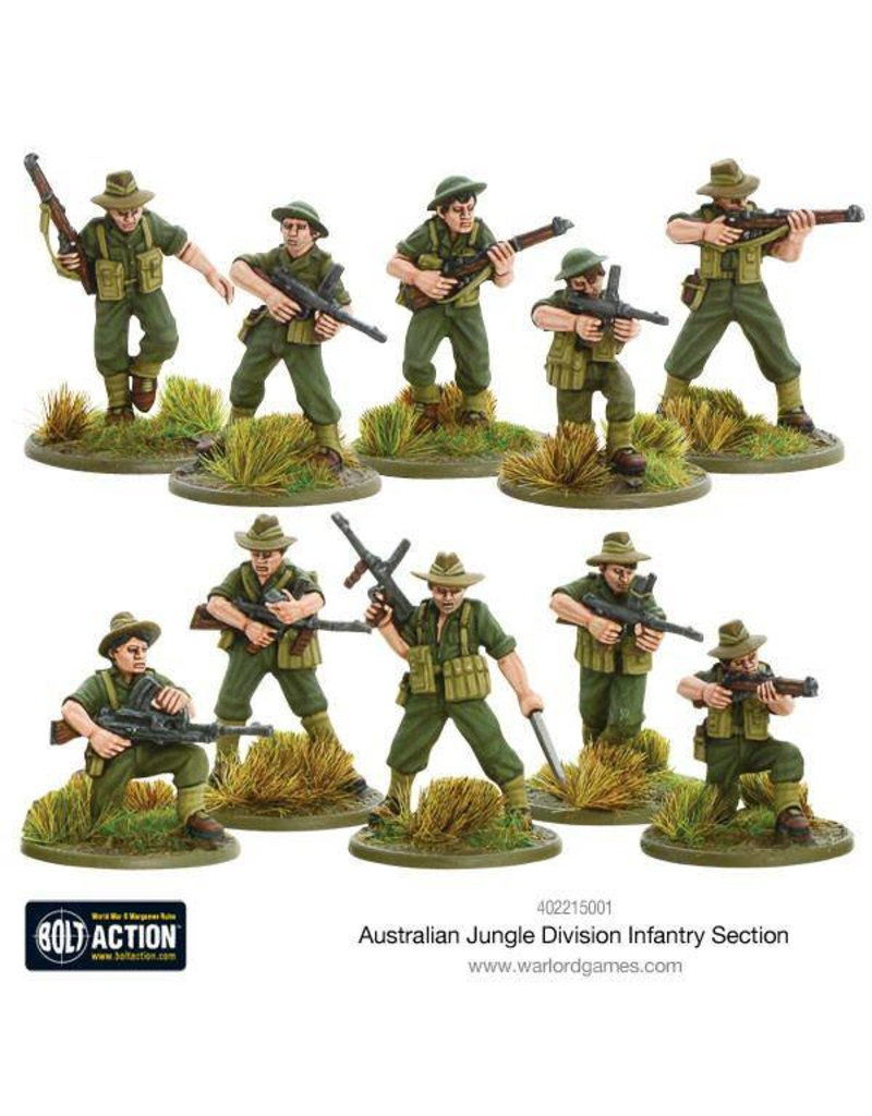 Warlord Games Allied Australian Jungle Division Infantry Section
