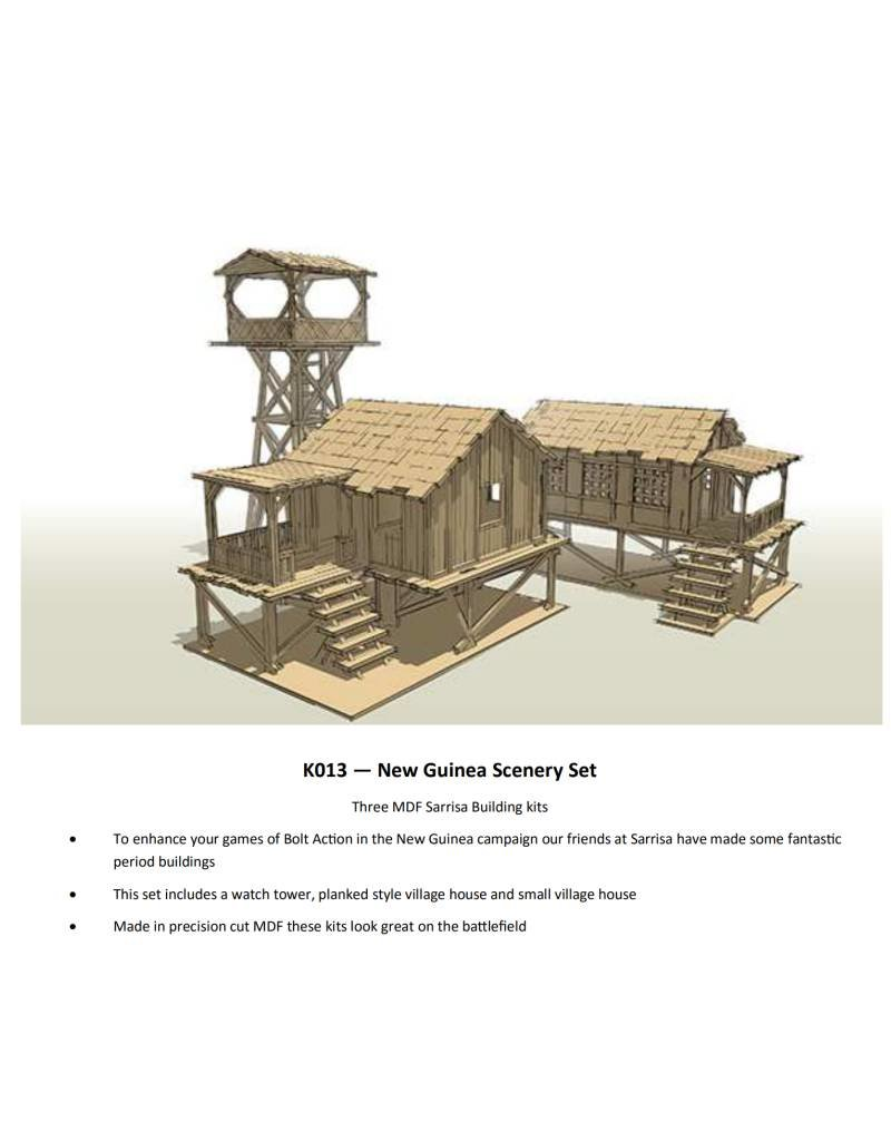 Warlord Games Bolt Action New Guinea Buildings