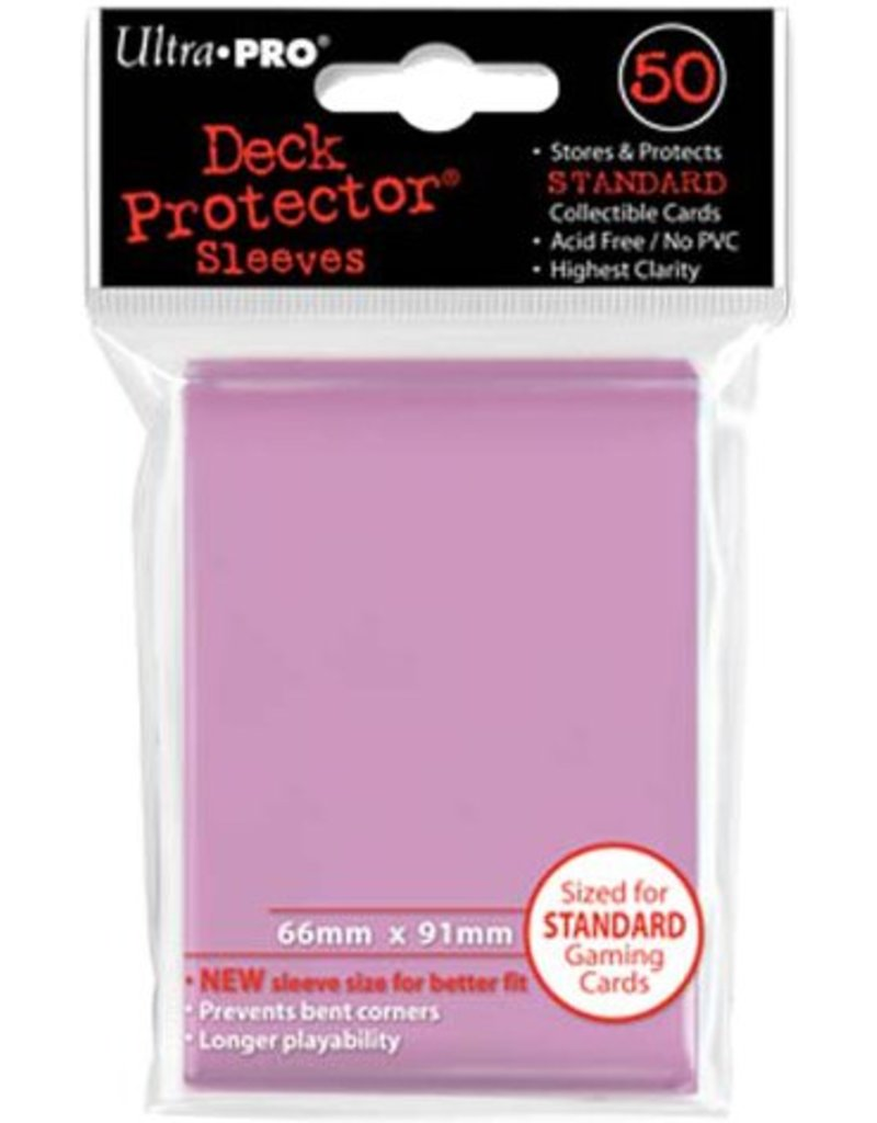 Ultra Pro Deck Protector Sleeves – Pink Standard
