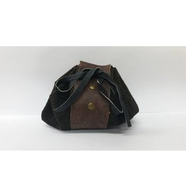 Goblin Gaming Leather Dice Bag – Dark Brown
