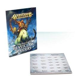 Games Workshop WARSCROLLS: BEASTCLAW RAIDERS (ENG)