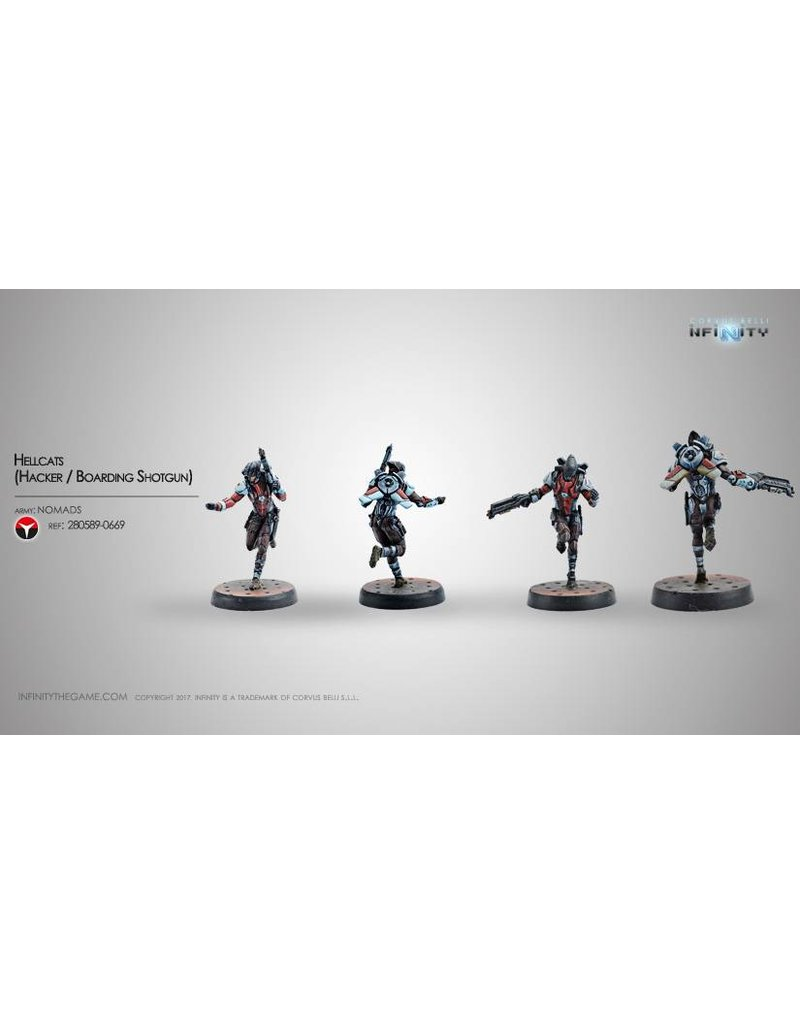 Corvus Belli Nomads Hellcats (Hacker / Boarding Shotgun) Blister Pack