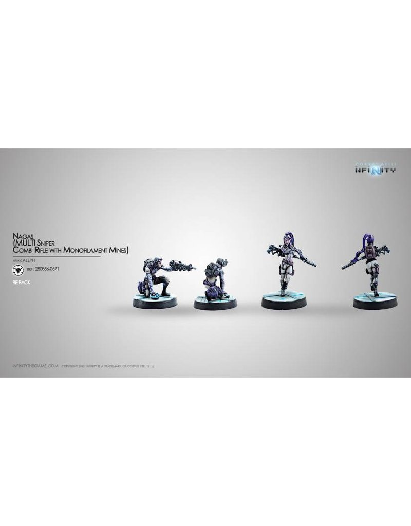 Corvus Belli Aleph Nagas (MULTI Sniper / Combi Rifle with Mono Mines) Blister Pack