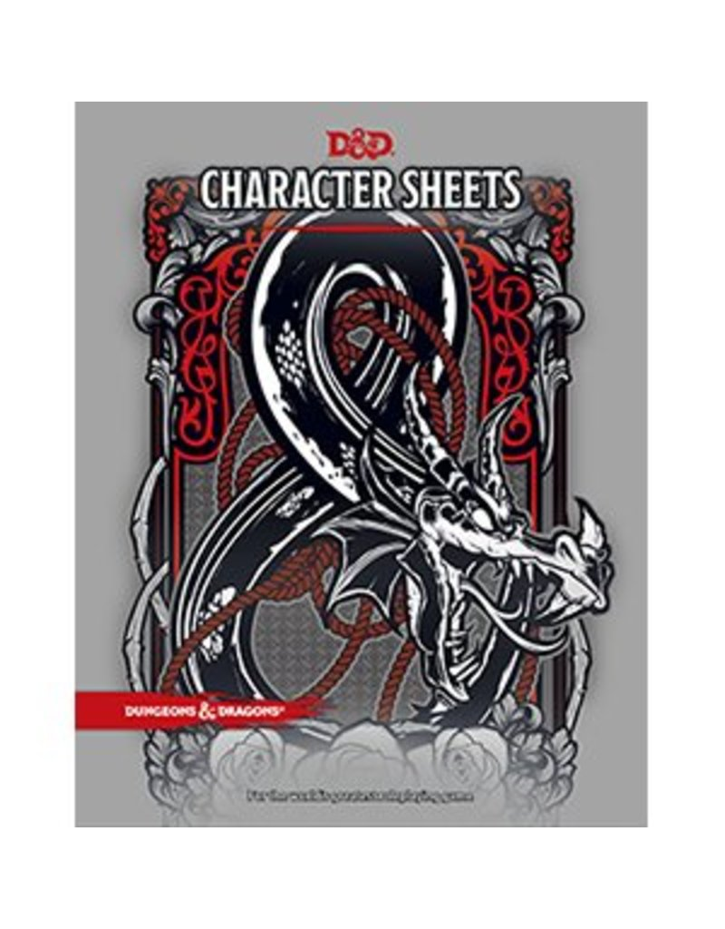 Wizards of the Coast Dungeons & Dragons Character Sheets (DND)