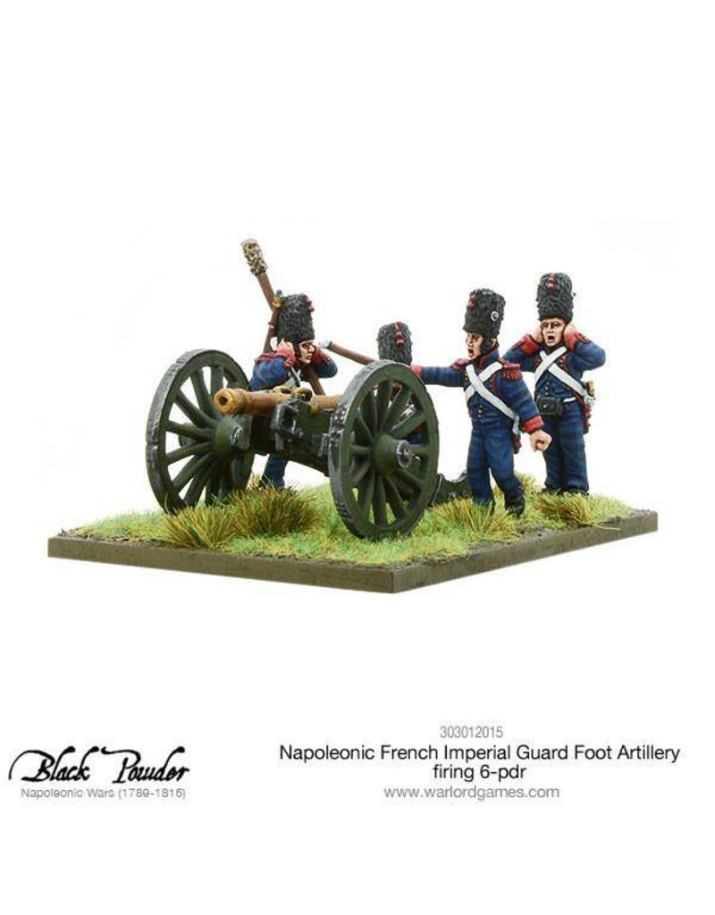 Warlord Games Napoleonic Wars 1789 – 1815 French Imperial Guard Foot Artillery 6-Pdr Firing Pack
