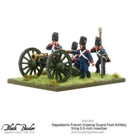 Warlord Games Napoleonic French Imperial Guard Foot Artillery Howitzer Firing