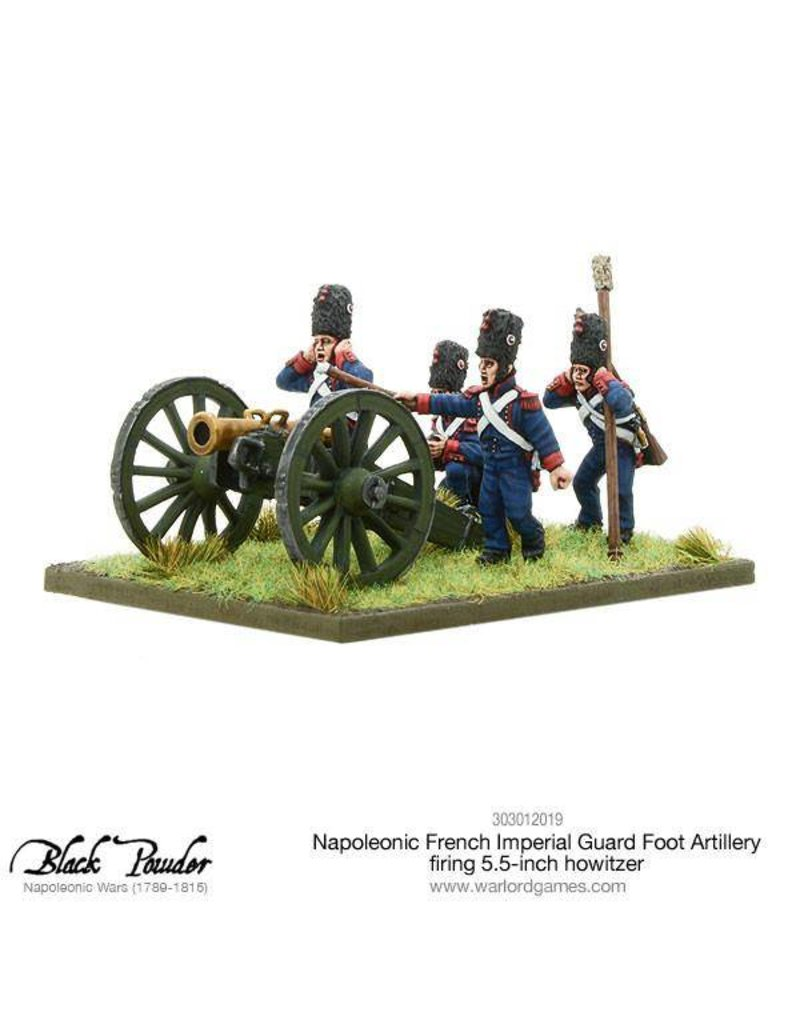 Warlord Games Napoleonic Wars 1789 – 1815 French Imperial Guard Foot Artillery Howitzer Firing Pack