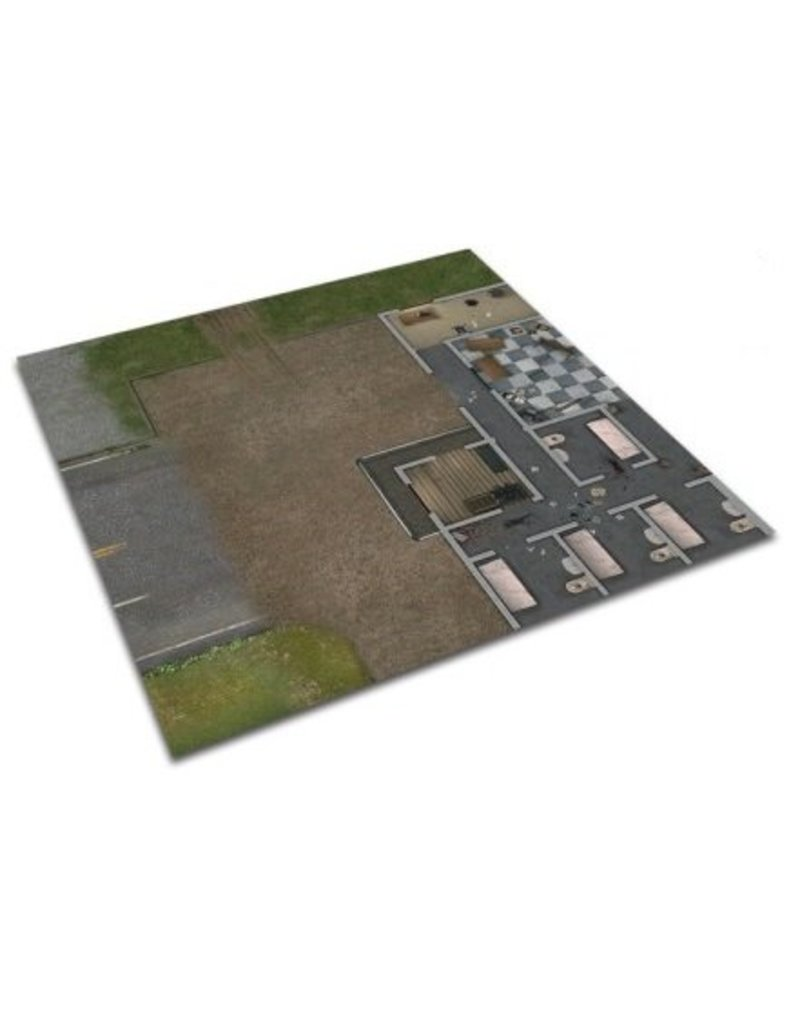 Mantic Games The Walking Dead: Deluxe Prison Grounds Mat