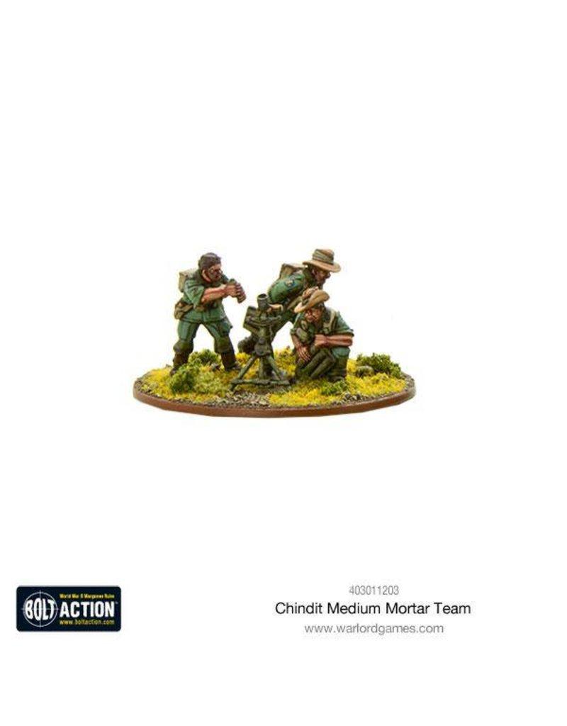 Warlord Games British Chindit Medium Mortar team