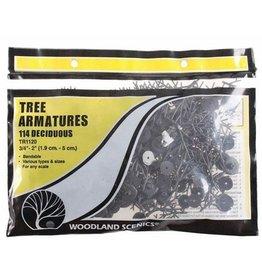 "Woodland Scenics ¾""-2"" Tree Armatures"