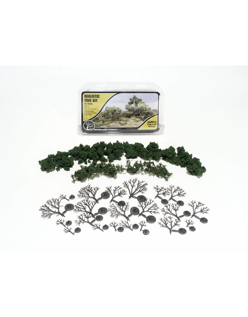 "Woodland Scenics 3""-7"" Medium Green Deciduous Trees (6/Kit)"