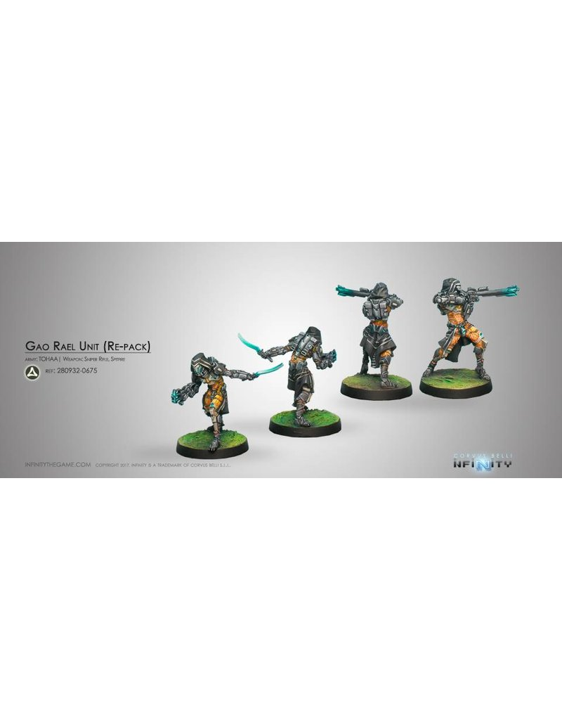 Corvus Belli Tohaa Gao-Rael Unit (Spitfire / Sniper Rifle) Blister Pack