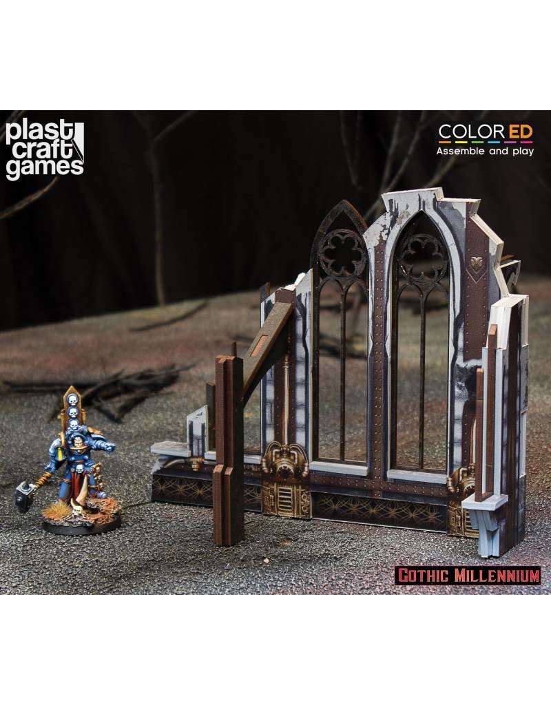 Plastcraft Ruined Side Wall - (Gothic Millennium Cathedral)