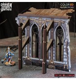 Plastcraft Demi-Ruined Side Wall - (Gothic Millennium Cathedral)