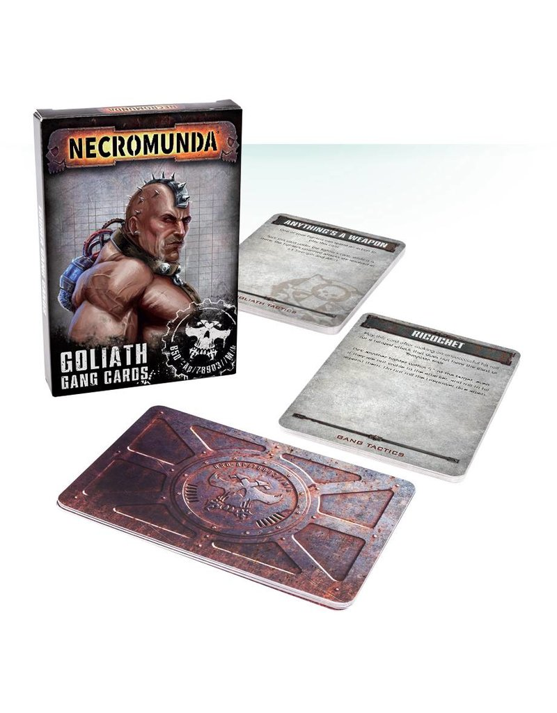 Games Workshop Necromunda  House Goliath Gang Cards (EN) Set