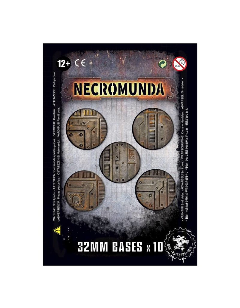 Games Workshop Necromunda 32mm Bases (X10) Pack