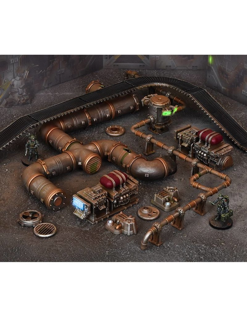 Mantic Games Terrain Crate: Industrial Accessories Scenery Box