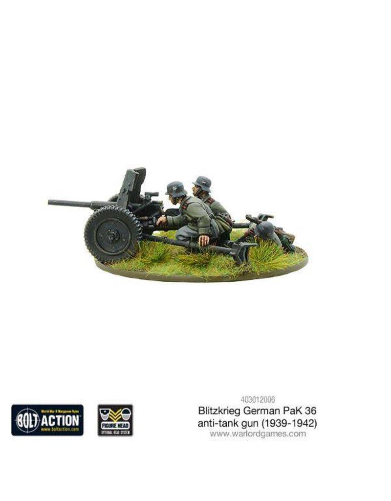 Warlord Games German Blitzkrieg German Pak 36 anti-tank gun