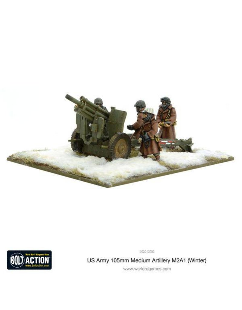 Warlord Games US Army 105mm Medium Artillery M2A1 (Winter)