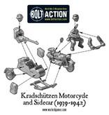 Warlord Games German Afrika Korps Kradschutzen motorcycle and sidecar