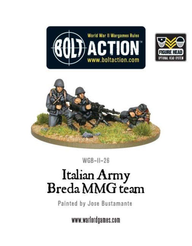 Warlord Games Italian Army Breda medium machine gun team