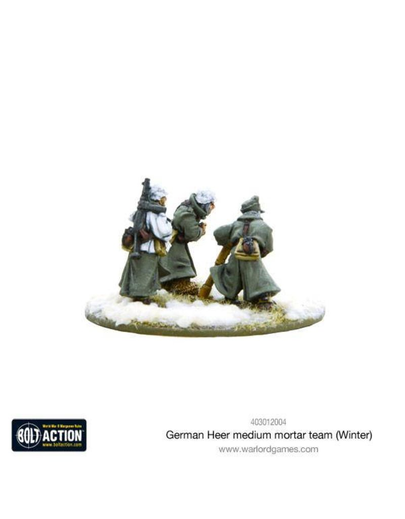 Warlord Games German Heer Medium Mortar team (Winter)